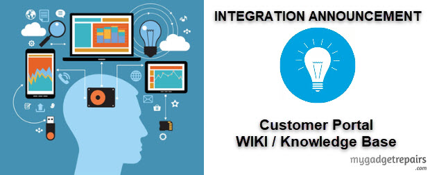 My Gadget Repairs and Customer Portal WIKI/Knowledge Base Integration