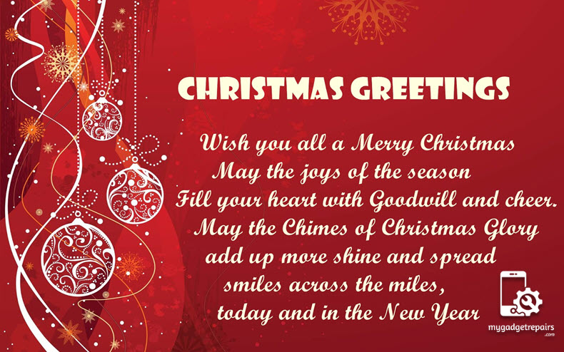 Merry Christmas to you & your family - From TEAM MGR