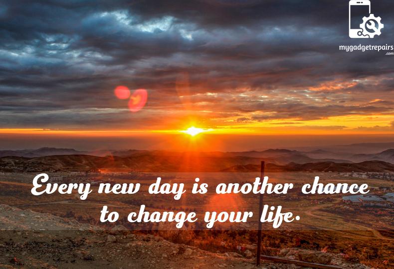 Week 40 - Begin the week on a positive note! #mygadgetrepairs #mondaymotivation
