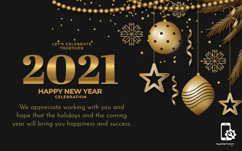 Wishing you a Happy New Year! We hope it's your best year ever.